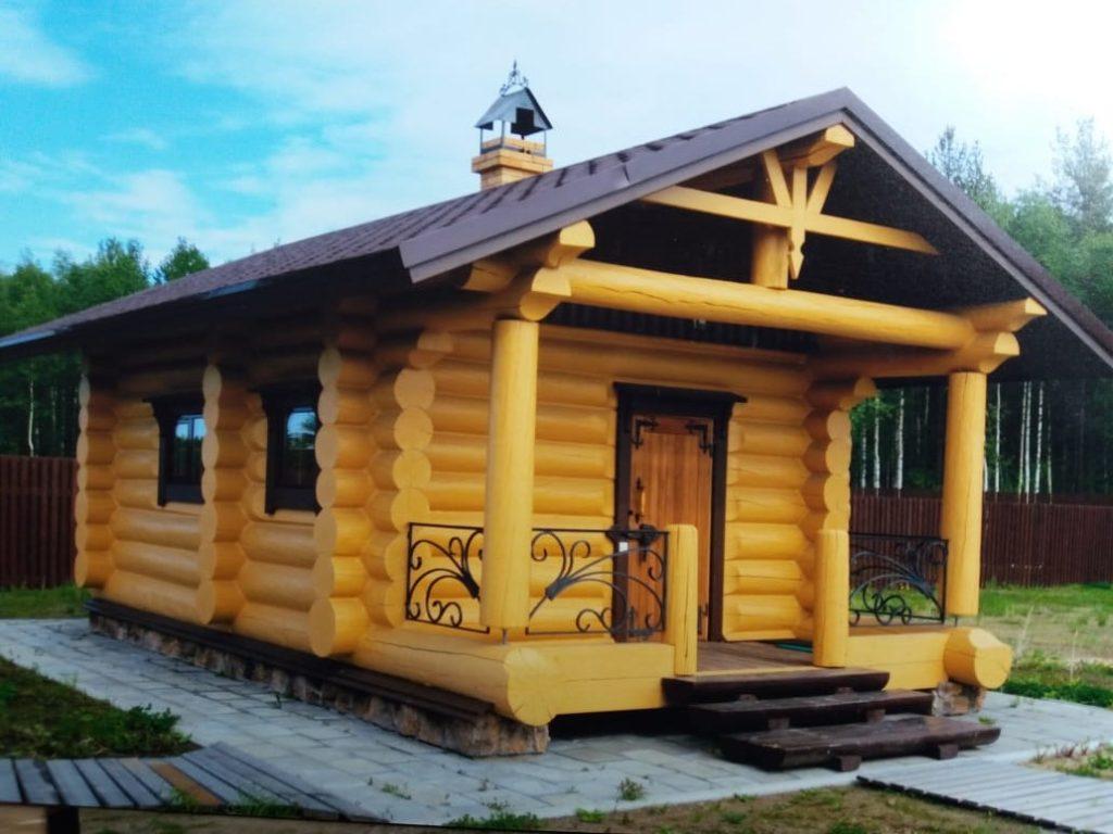 Дома и бани из оцилиндрованного бревна